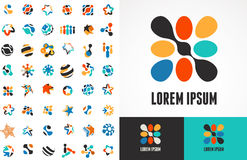 Collection of abstract icons and symbols stock illustration