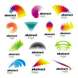 Collection of abstract logos range Stock Image