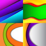 Collection of abstract multicolored backgrounds. Royalty Free Stock Image