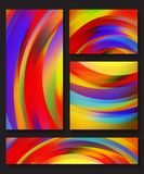 Collection of abstract multicolored backgrounds Royalty Free Stock Photos