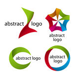 Collection of abstract multicolored logo Stock Photos
