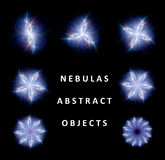 Collection of abstract nebulas Royalty Free Stock Photography