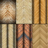 Collection of abstract parquet textures Royalty Free Stock Photos