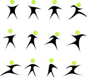 Collection of abstract people logos Stock Photo