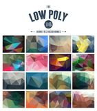 Collection of abstract polygonal backgrounds Stock Photo