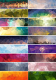 Collection of  abstract polygonal banners Royalty Free Stock Photo