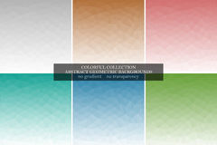 Collection of abstract polygonal geometric vector backgrounds. Stock Photo