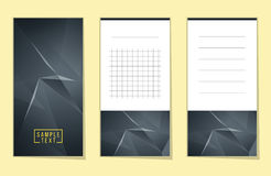 Collection of Abstract polygonal space low poly notes Royalty Free Stock Images