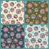 Collection of abstract seamless patterns Royalty Free Stock Image
