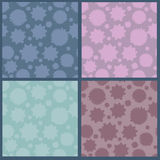 Collection of abstract seamless patterns Royalty Free Stock Photos