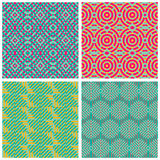 Collection of abstract seamless patterns. Stock Image