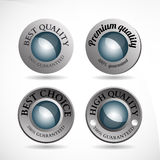 Collection of abstract silver badges vector illustration