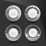 Collection of abstract silver badges Royalty Free Stock Image