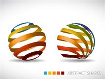 Collection of abstract spheres vector illustration