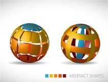 Collection of abstract spheres Stock Photography