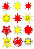 Collection of abstract star symbols Royalty Free Stock Image