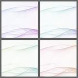 Collection of abstract swoosh line certificates Stock Photo