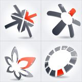 Collection of abstract symbols Royalty Free Stock Images