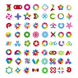 Collection of abstract symbols Stock Image