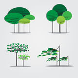 Collection of abstract trees Stock Images