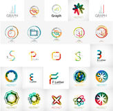 Collection of abstract universal logos Stock Image