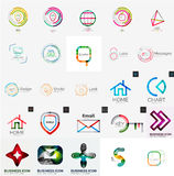 Collection of abstract universal logos Stock Photos