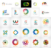 Collection of abstract universal logos Royalty Free Stock Images