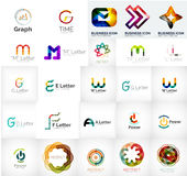 Collection of abstract universal logos Stock Photos