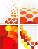 Collection of abstract vector designs Royalty Free Stock Photos