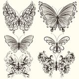 Collection of abstract vector swirl butterflies for design Royalty Free Stock Photography