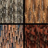 Collection of abstract wooden planks texture Stock Images