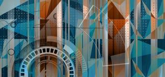 Collection abstraite de fond de technologie pour des idées de solution d'affaires illustration de vecteur