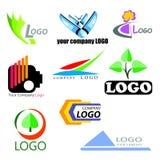 Collection abstraite de logos Image libre de droits