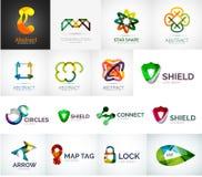 Collection abstraite de vecteur de logo de société Images stock