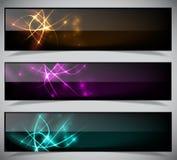 Collection abstraite lumineuse de bannières. Images libres de droits