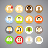 Collection of account icons. Of men and women. Different nationalities Royalty Free Stock Image