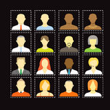 Collection of an account icons Stock Image