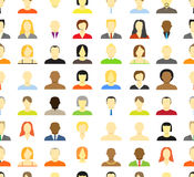 Collection of an account icons. Of men and women. Seamless background Stock Photography