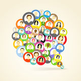 Collection of an account icons. Of men and women. Seamless background Royalty Free Stock Images