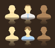 Collection of an account icons Royalty Free Stock Photos