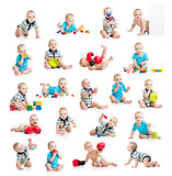 Collection of active baby or kid boy Stock Image