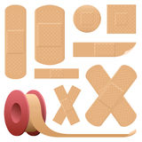 Collection adhésive de bandage de plâtre Photographie stock