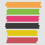 Collection of adhesive tape pieces. Vector set Stock Photos