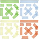 Adhesive tape collection Stock Photo