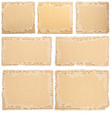 Collection of an aged cardboard pieces Royalty Free Stock Image