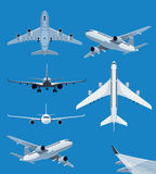 Collection of airplane illustrations Royalty Free Stock Photos