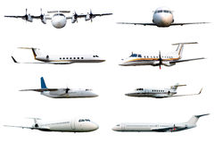 Collection of airplane Royalty Free Stock Photo