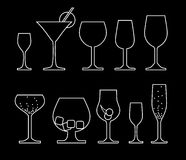 Collection of alcoholic drink Stock Photo