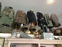 WWII Military Uniforms in a Museum Stock Photos