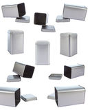 Collection aluminum Box Royalty Free Stock Photography